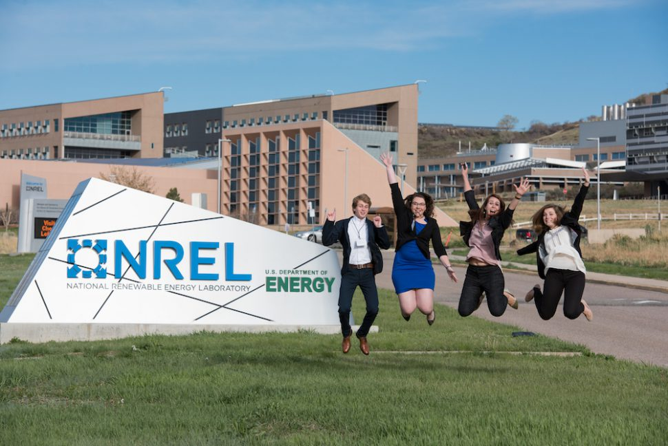 NREL-sign-students