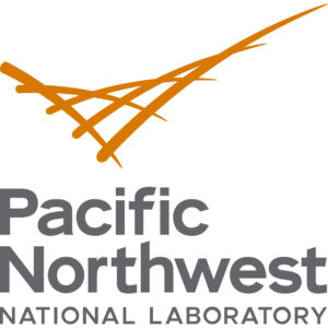 """Orange logo and gray text saying """"Pacific Northwest National Laboratory"""" on a white background."""