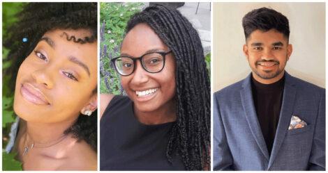 A collage of headshots of the three Summer 2021 NREL Interns, Zoe Landers, Megan Bush, and Vedyun Mishra.